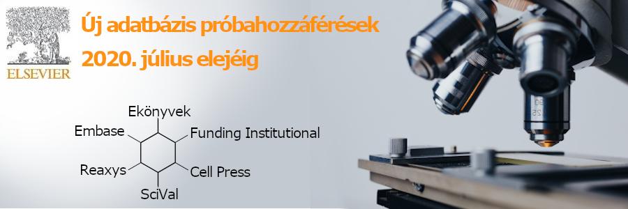 Új Elsevier adatbázis próbahozzáférések