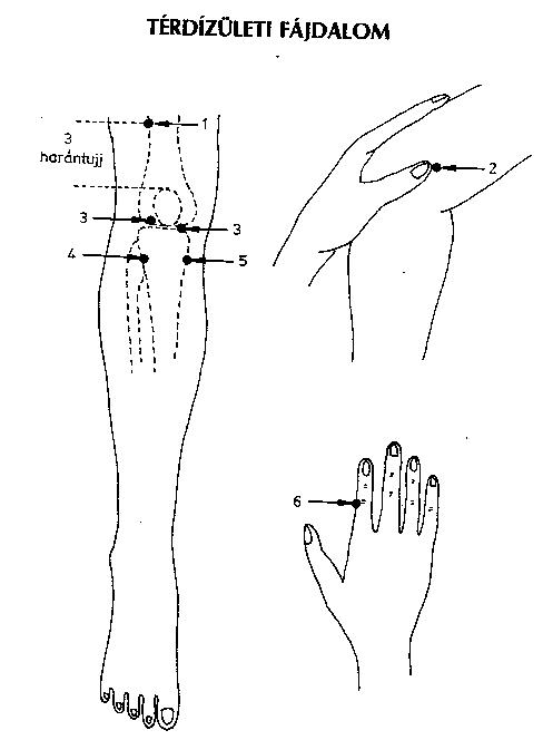 Akupunktúrás pontok visszerek a lábak