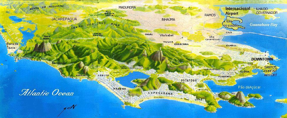Rio Tourist Information – Tourist Map Of Rio De Janeiro